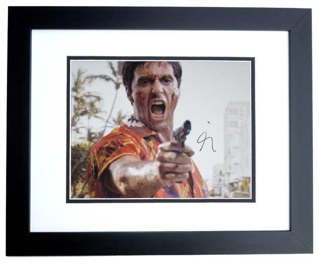 Al Pacino Signed - Autographed SCARFACE 11x14 inch Photo BLACK ...