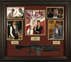 Al Pacino Autographed Scarface Photo w Gun Custom Shadowbox Display AFTAL