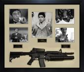 Al Pacino Autographed Scarface Photo w Gun Custom Shadowbox Display Case