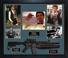 Al Pacino Autographed Scarface Photo w Gun Custom Shadowbox Display PSA