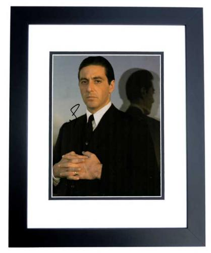 Al Pacino Signed - Autographed The Godfather 11x14 inch Photo BLACK CUSTOM FRAME - Guaranteed to pass PSA or JSA