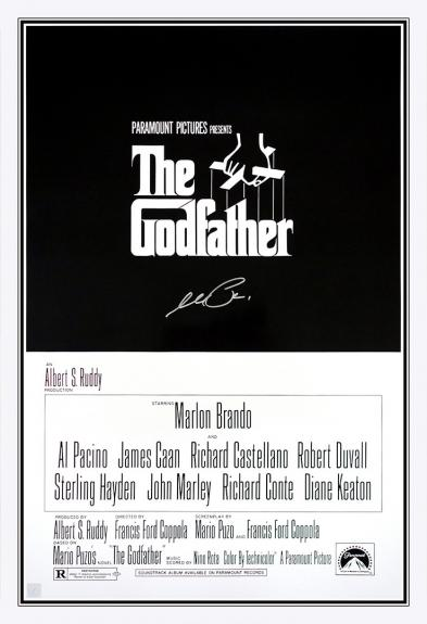 Al Pacino Autographed THE GODFATHER 24x36 Movie Poster