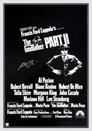Al Pacino Autographed THE GODFATHER II 24x36 Movie Poster