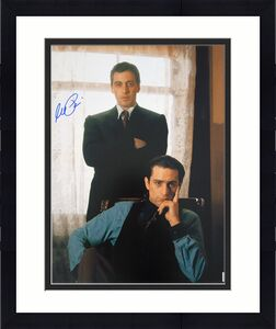 Al Pacino Autographed w/ Robert De Niro Godfather II 16x20 Photo