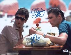 Al Pacino & Bauer Signed Authentic 11x14 Photo Scarface Psa/dna Itp 5a00028