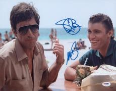 Al Pacino & Bauer Signed Authentic 11x14 Photo Scarface Psa/dna Itp 5a00419