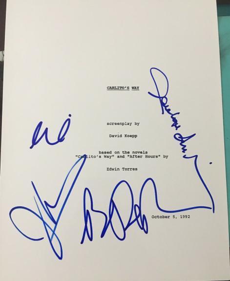 """Al Pacino + Cast & Crew Signed Autograph """"carlito's Way"""" Full Movie Script Coa"""