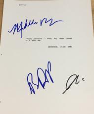 """Al Pacino Depalma Pfeiffer Cast Signed Autograph """"scarface"""" Classic Movie Script"""