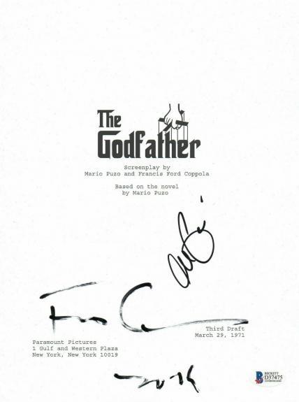 Al Pacino & Francis Ford Coppola Auto The Godfather Signed Movie Script Bas Coa