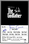 "Al Pacino & Francis Ford Coppola Autographed 12""x 17"" The Godfather Movie Poster With Blue Ink - BAS COA"