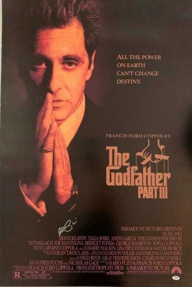 AL Pacino Godfather Full size poster 27x40 PSA/DNA ITP COA Witness 4