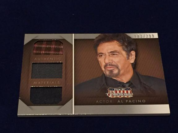Al Pacino Godfather Scarface Star 2015 Panini Americana Material Triple Relic