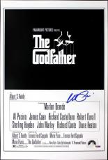 Al Pacino Godfather Signed 12X18 Mini Poster Graded Perfect 10! PSA/DNA #5A00983