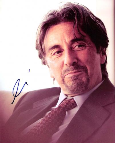 """AL PACINO - GREAT CLOSE UP! Movies Include """"SCENT of a WOMAN"""", """"JUSTICE for ALL"""", and """"THE GODFATHER"""" Signed 8x10 Color Photo"""