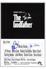 Al Pacino & James Caan Dual Signed The Godfather 11x17 Movie Poster