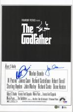 "Al Pacino & James Caan The Godfather Autographed 11"" x 17"" Movie Poster - BAS"