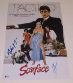 Al Pacino Michelle Pfeiffer Signed 12x18 Photo Scarface Poster Autograph Bas Coa