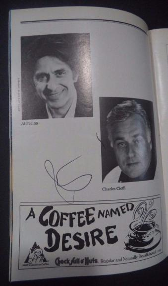 Al Pacino Movie Legend Signed Autographed Playbill Page W/coa Authentic Rare