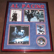 """Al Pacino Rare Signed """"HEAT Photo Framed Display, Psa/dna coa!"""