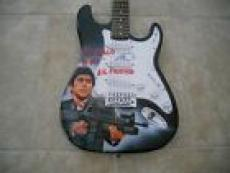 Al Pacino Scareface Airbrushed Signed Autographed Guitar PSA Certified