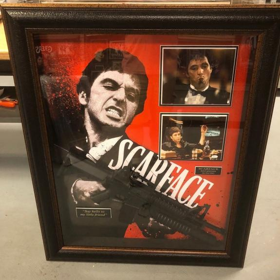 "Al Pacino, (Scareface), ""Autographed"" (JSA) Deluxe Shadow Box"