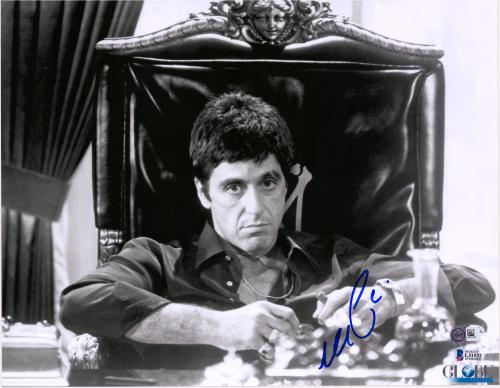 "Al Pacino Scarface Autographed 11"" x 14"" at Desk Photograph - BAS"