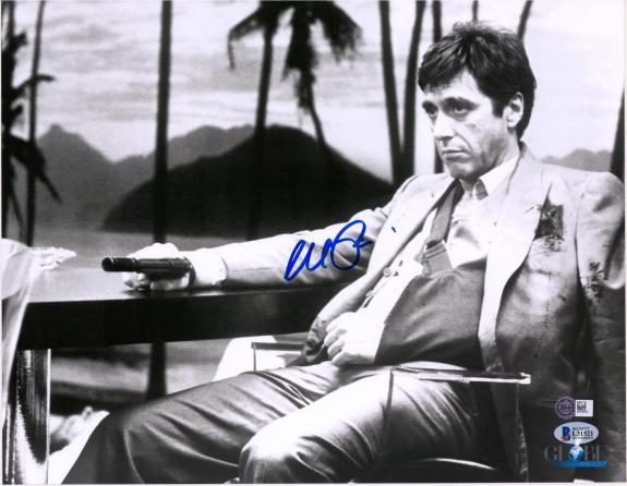 "Al Pacino Scarface Autographed 11"" x 14"" Holding Gun Photograph - BAS"