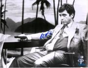 "Al Pacino Scarface Autographed 11"" x 14"" Holding Gun Photograph - BAS"