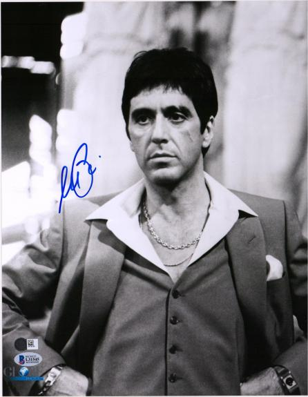 "Al Pacino Scarface Autographed 11"" x 14"" in Suit Photograph - BAS"