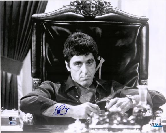 "Al Pacino Scarface Autographed 16"" x 20"" at Desk Photograph - BAS"