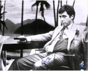 "Al Pacino Scarface Autographed 16"" x 20"" Holding Gun Photograph - BAS"