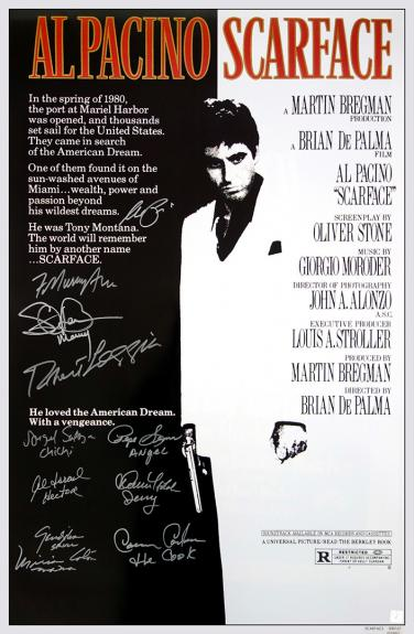 Al Pacino & Scarface cast autographed SCARFACE 25x39 movie poster - 11 Signatures
