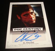 Al Pacino Scarface Godfather 2014 Leaf Pop Century Signed Authentic Autograph