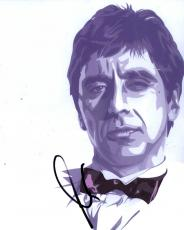 Al Pacino Scarface Godfather Signed Painting Photo AFTAL