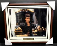 AL PACINO SCARFACE MOVIE Autographed 16x20 Photo Framed BAS COA