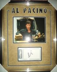 Al Pacino Scarface Movie Psa/dna Index Card Signed Auto Double Matted & Framed