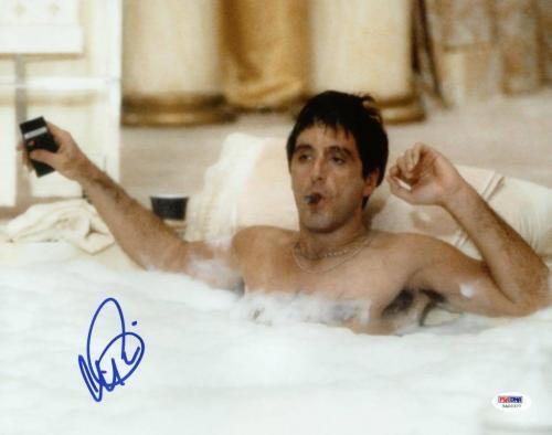 Al Pacino Scarface Signed 11X14 Photo Tony Montana PSA ITP #5A00377