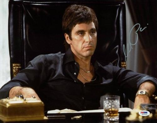 Al Pacino Scarface Signed 11X14 Photo Tony Montana PSA ITP #5A00919