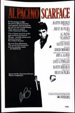 Al Pacino Scarface Signed 12X18 Mini Movie Poster PSA/DNA ITP #5A00999