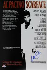 Al Pacino Scarface Signed 12X18 Mini Poster Auto Graded Gem 10! PSA/DNA #6A31148