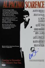 Al Pacino Scarface Signed 12x18 Mini Poster Auto Graded Gem 10! Psa/dna #6a31151
