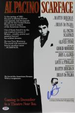 Al Pacino Scarface Signed 12x18 Mini Poster Psa/dna Itp #6a31144