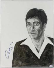 Al Pacino Scarface Signed 15X19 Original Painting PSA/DNA #S10804