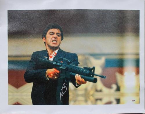 Al Pacino Scarface Signed 20X28 Canvas Autographed ITP PSA #4A98787