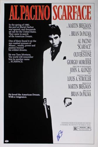 Al Pacino Scarface Signed 27X40 Poster Autographed PSA ITP #5A80166