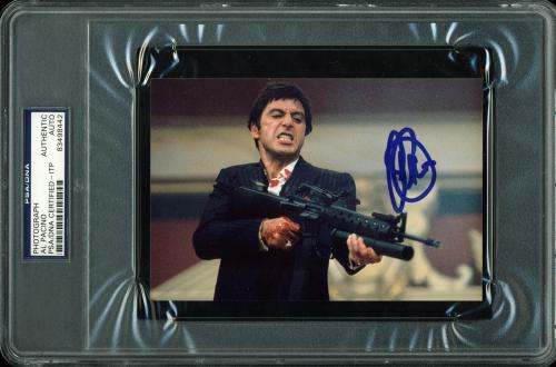 Al Pacino Scarface Signed 4x6 Photo Autographed PSA Slabbed #83498442