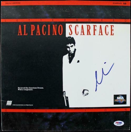 Al Pacino Scarface Signed Laserdisc Cover PSA/DNA #J00693