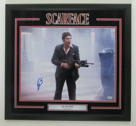 Al Pacino Scarface Signed/Framed 16x20 Color Photo PSA/DNA 141890
