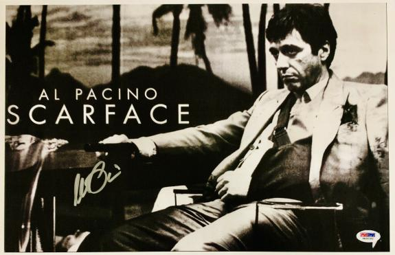 Al Pacino Signed 11 x 17 Scarface Movie Poster Photo Tony Montana - PSA DNA 3