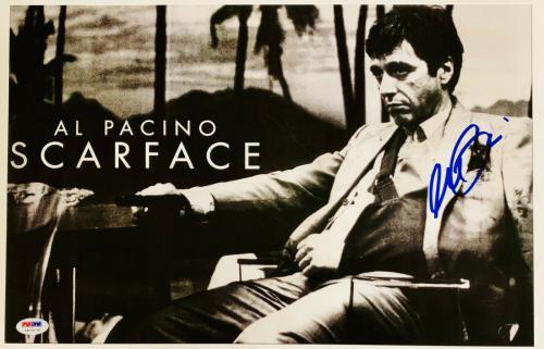 Al Pacino Signed 11x17 Scarface Movie Poster Photo Tony Montana PSA DNA Sticker